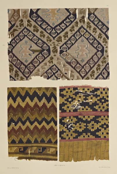 The Necropolis of Ancon Vol. 2 - Gobelins Stuffs with Geometrical Patterns and Annual figures — Parts of Woollen Garments (1880)