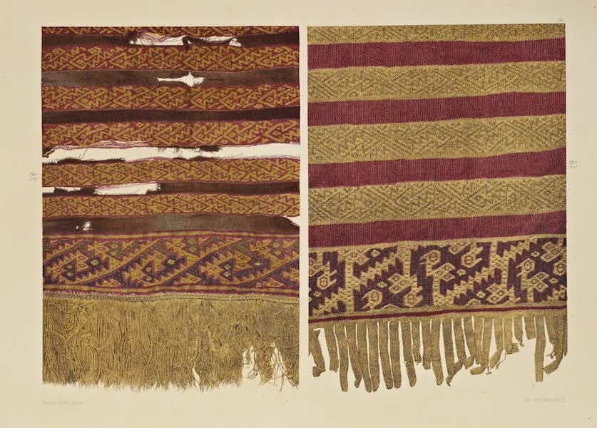 The Necropolis of Ancon Vol. 2 - Dress Materials horizontally striped (1880)