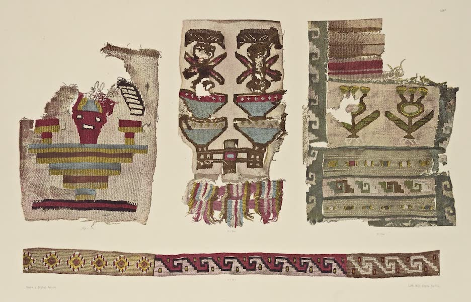 The Necropolis of Ancon Vol. 2 - Pieces of insertion of Woollen Band (1880)