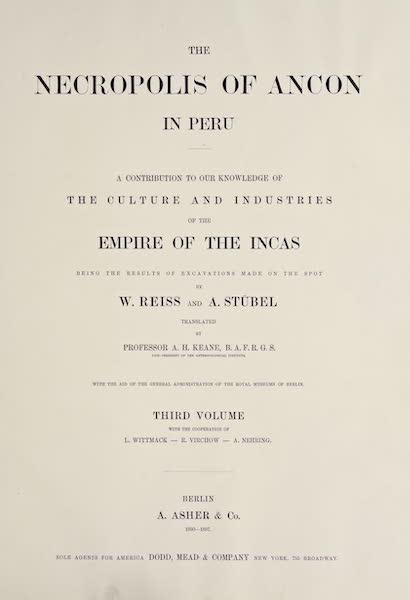 The Necropolis of Ancon Vol. 3 - Title Page (1880)