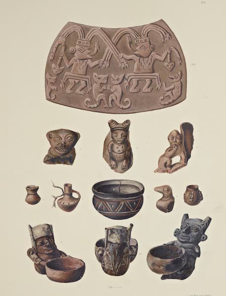 The Necropolis of Ancon Vol. 3 - Ornamented Pieces of Earthenware and smaller Clay Vessels (1880)