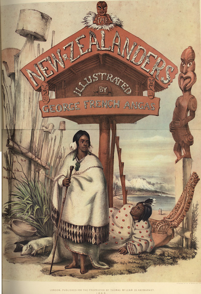 The New Zealanders Illustrated - Illustrated Title Page (1847)