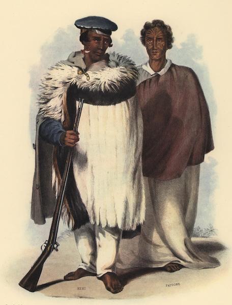 The New Zealanders Illustrated - Honi Heki and Patuone (1847)