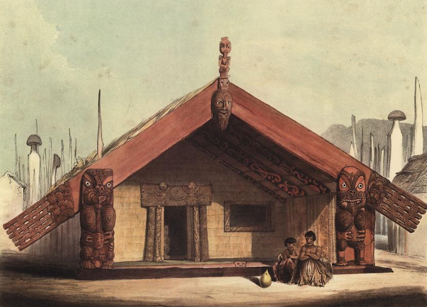 The New Zealanders Illustrated - Rangihaeata's House on the Oslamd of Mana, called