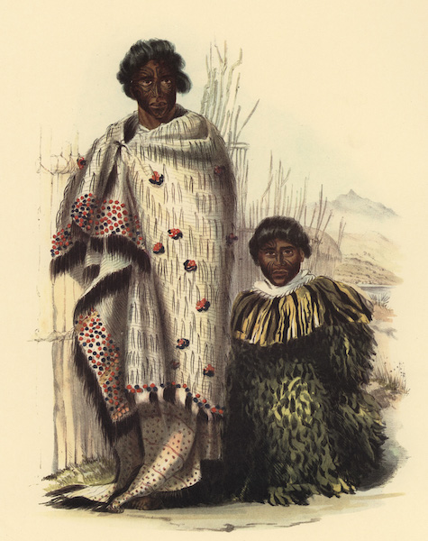 The New Zealanders Illustrated - Te Awaitaia and Te Moanaroa: Waingaroa (1847)
