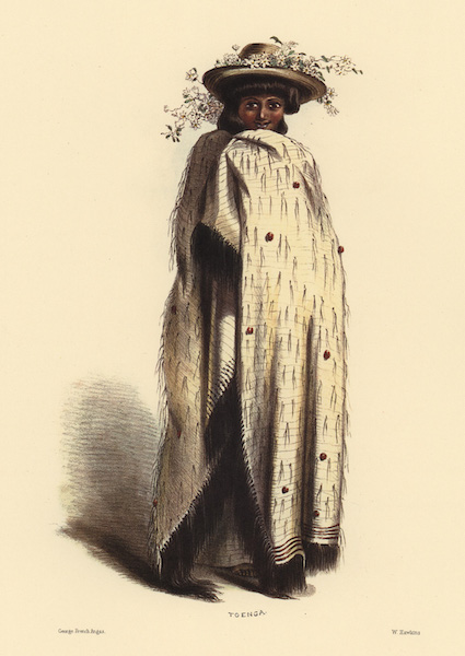 The New Zealanders Illustrated - Nga Toenga, daughter of the Barrier Island Chief (1847)