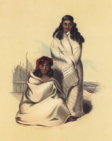 The New Zealanders Illustrated - E Wai and Kahoki. Nieces of Rauparaka (1847)