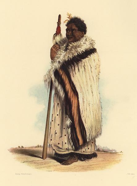 The New Zealanders Illustrated - Nene or Tamiti Waka. Chief of Hokianga (1847)