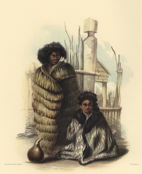 The New Zealanders Illustrated - E Pori / E Rangi Wawa. Porirua Pah (1847)