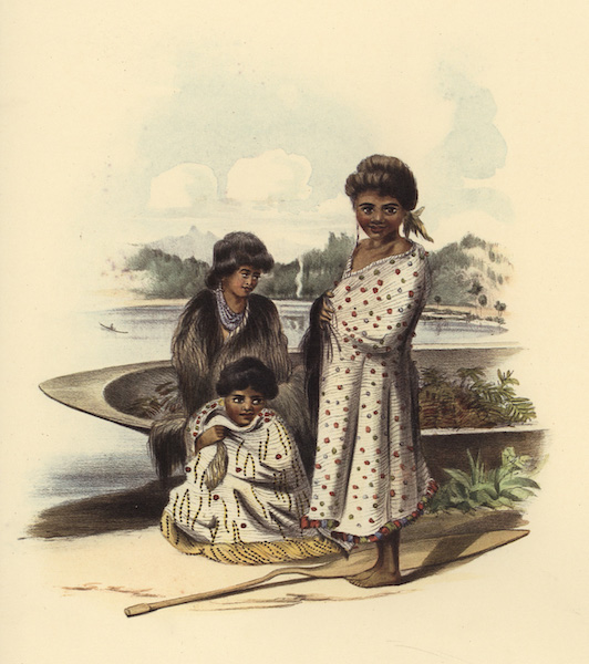 The New Zealanders Illustrated - Children on the Banks of the Waipa (1847)