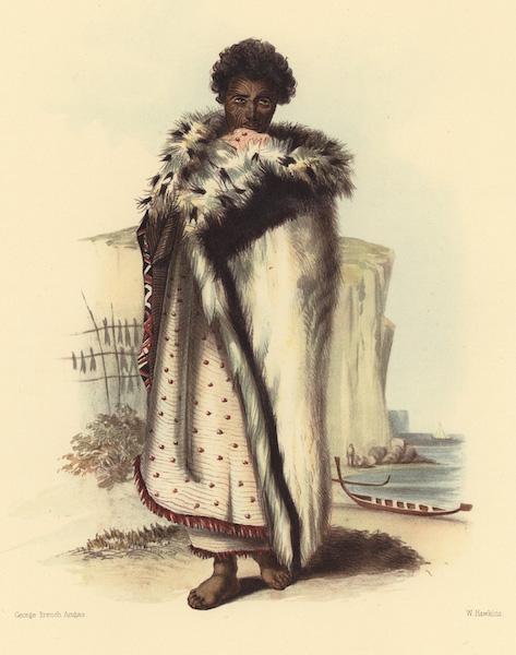 The New Zealanders Illustrated - Rangitakina. A chief of the Bay of Plenty, on the East Coast (1847)