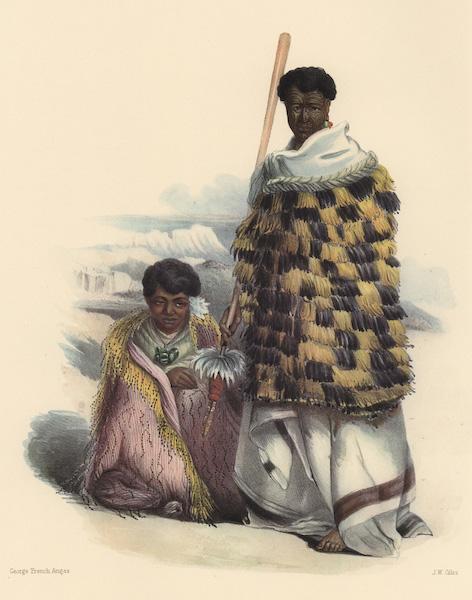 The New Zealanders Illustrated - Mungakahu, chief of Motupoi, and his wife Ko Mari (1847)