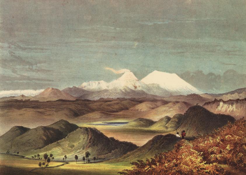 The New Zealanders Illustrated - The Volcanic region of Pumice Hills, looking toward Tongariro and the Ruapahu (1847)