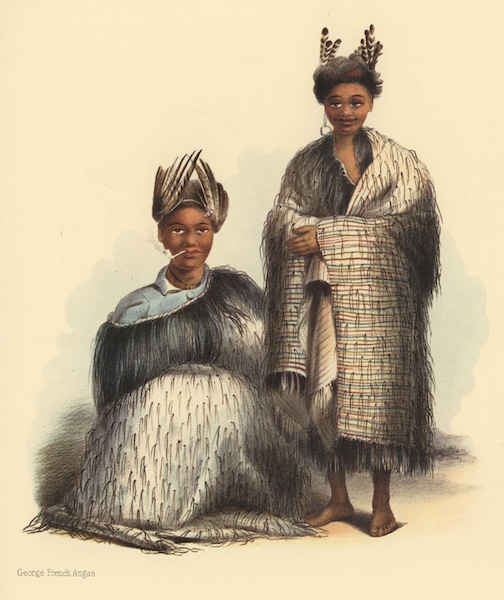 The New Zealanders Illustrated - Poahu and E Koti; two lads of Poverty Bay (1847)