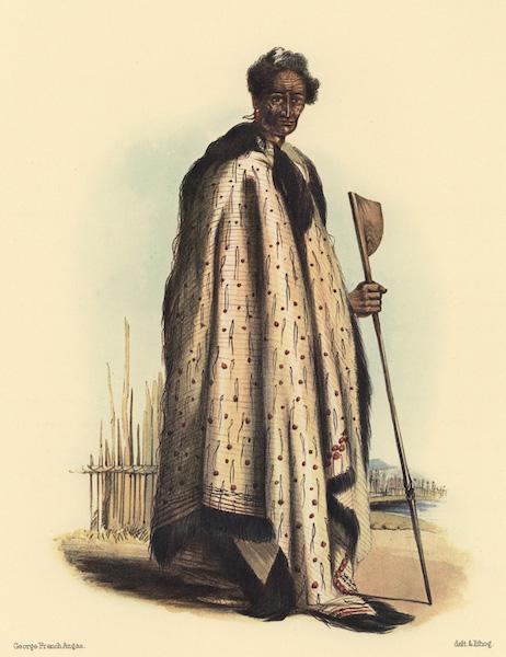 The New Zealanders Illustrated - Tara or Irirangi, principal chief of the Nga Ti Tai Tribe (1847)