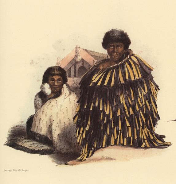 The New Zealanders Illustrated - To Ngaporutu, and his wife, Rihe, at Wakatumutu  (1847)