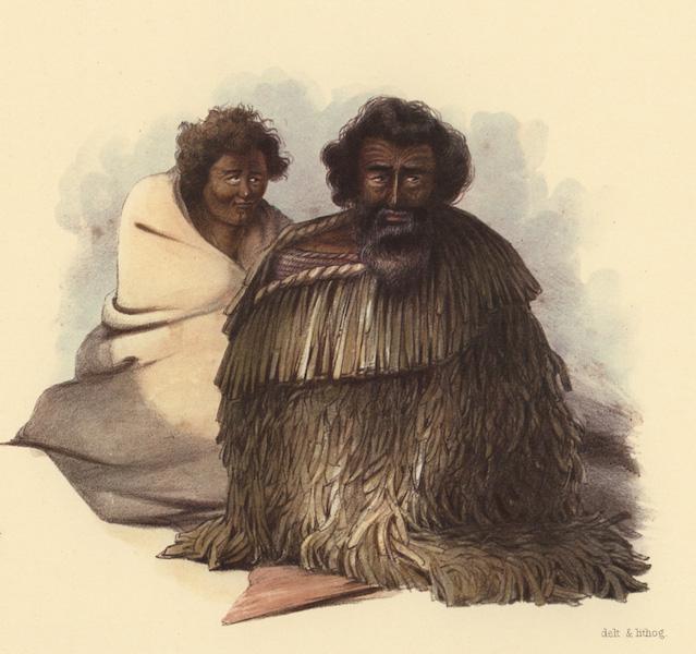 The New Zealanders Illustrated - Ngawhea, of the Te Mohoa, a chief of the Ngatimaniapoto Tribe & Nga Miho 'Wife of Rangituataea' (1847)