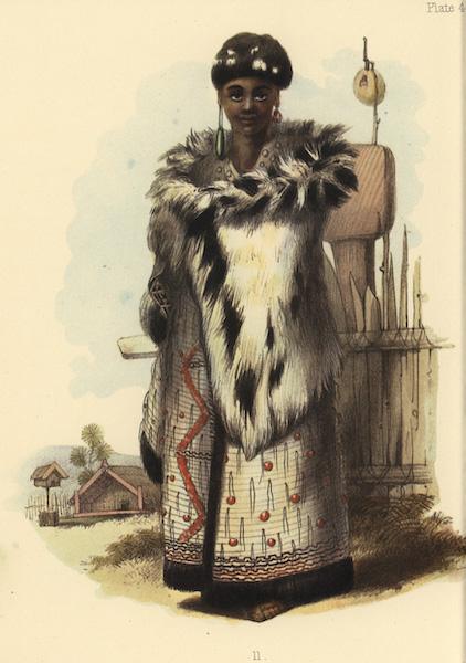 The New Zealanders Illustrated - e Amotutu. A young chief of Nga-Ti-Pou Tribe (1847)