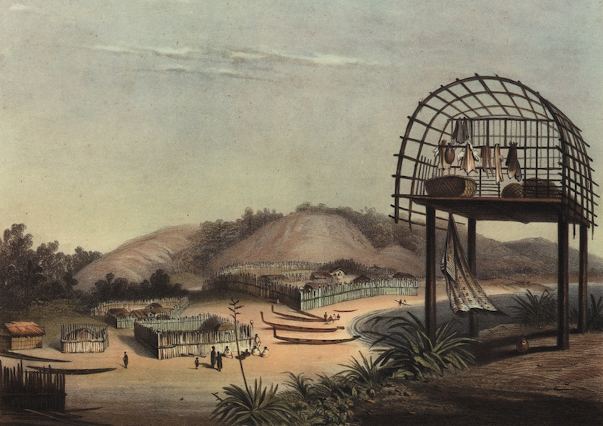 The New Zealanders Illustrated - Taupo Pah (1847)