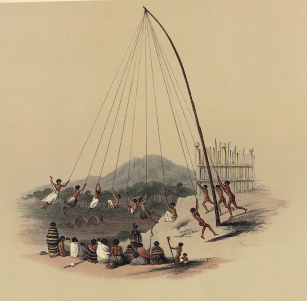 The New Zealanders Illustrated - Native Swing (1847)