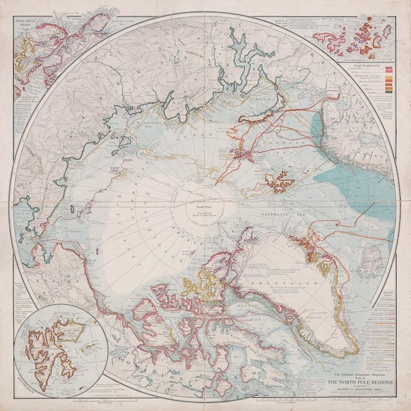 The National Geographic Magazine Map of the North Pole Regions (1907)