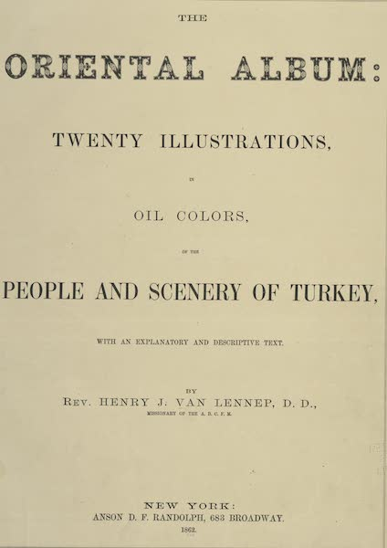 The Oriental Album - Title Page (1862)