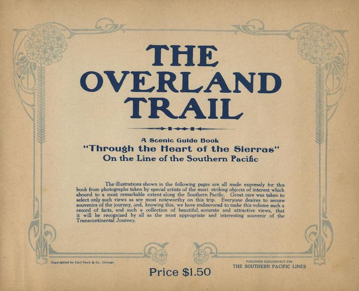 The Overland Trail - Title Page (1920)