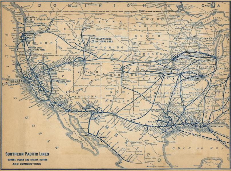 The Overland Trail - Southern Pacific Lines (1920)