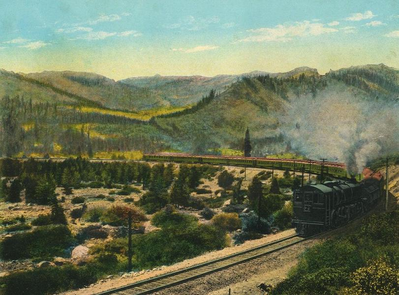 The Overland Trail - Train Crossing the Sierra near Emigrant Gap (1920)