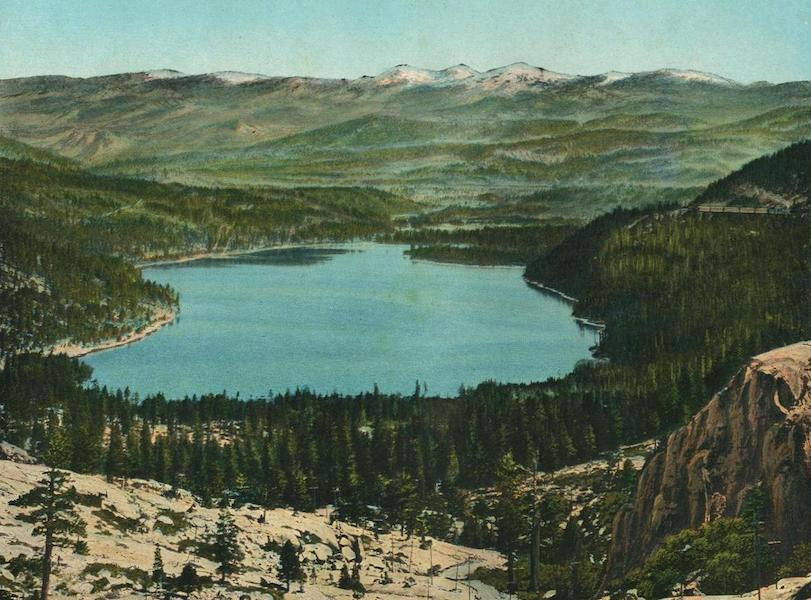 The Overland Trail - Donner Lake from near Summit, Cal. (1920)