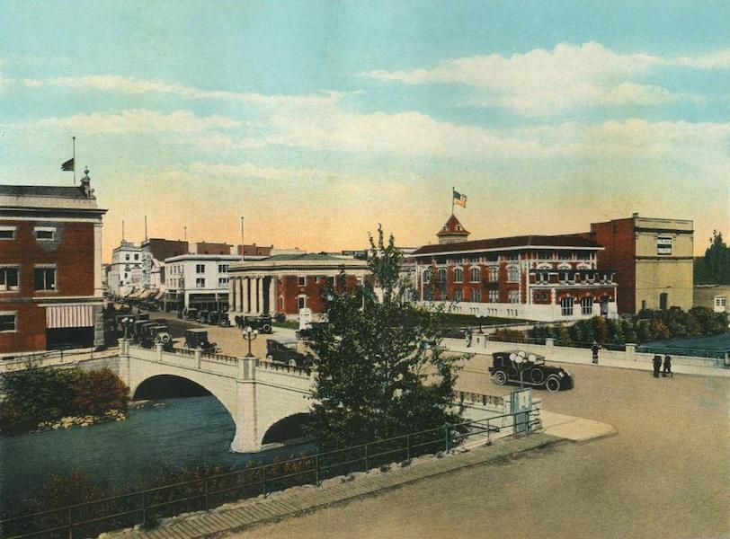 The Overland Trail - Virginia Street and Truckee River, Reno, Nevada (1920)