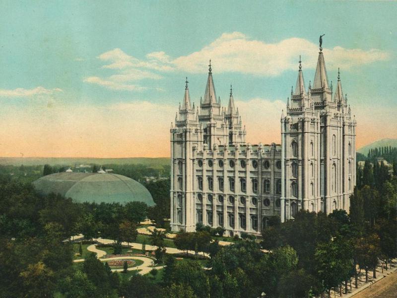 The Overland Trail - Temple and Tabernacle, Salt Lake City, Utah (1920)