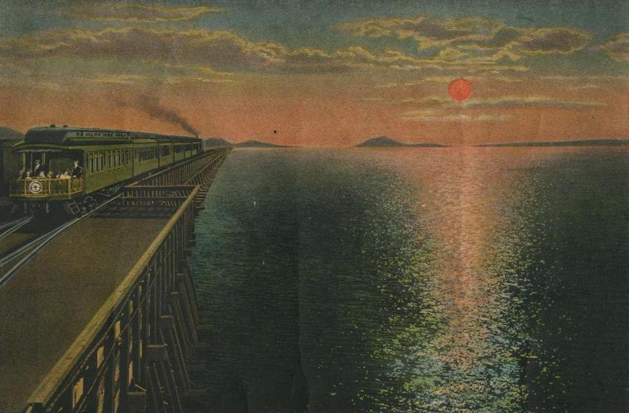 The Overland Trail - Crossing Salt Lake at Sunset (1920)
