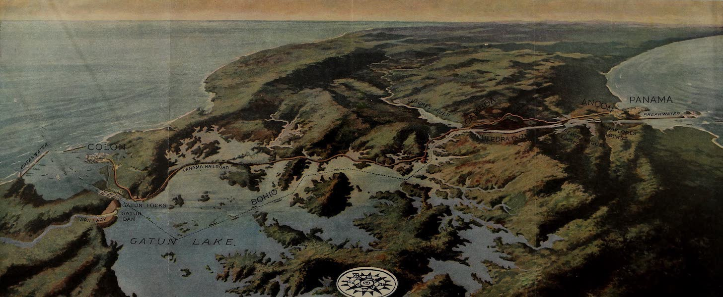 The Panama Canal - Birds-Eye View of the Panama Canal (1913)