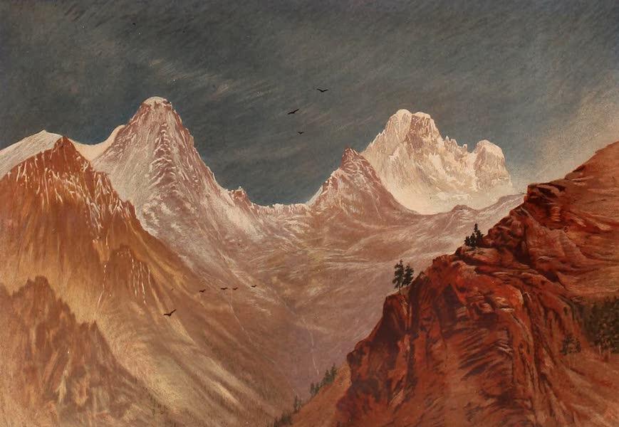 The Peaks & Valleys of the Alps - Monte Viso from the Col de la Croix (1868)