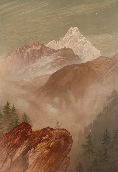 The Peaks & Valleys of the Alps - Monte Viso from the South (1868)