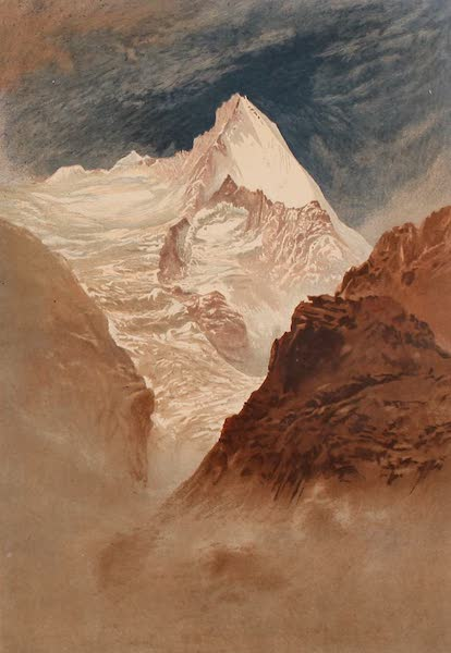 The Peaks & Valleys of the Alps - The Grivola from near the Col Darbole (1868)