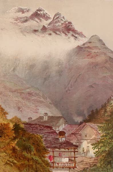 The Peaks & Valleys of the Alps - Near Courmayeur Cloud Streamers (1868)