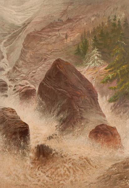 The Peaks & Valleys of the Alps - A Torrent Val Tournanche (1868)