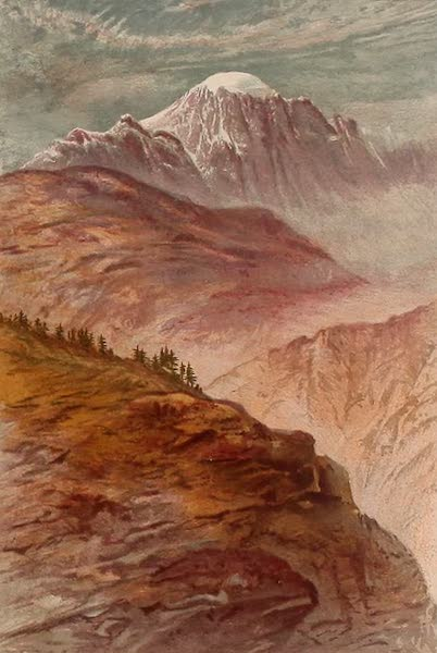The Peaks & Valleys of the Alps - The Velan from near Aosta (1868)
