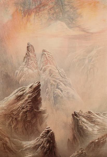 The Peaks & Valleys of the Alps - Mont Blanc from the Col Danterne (1868)