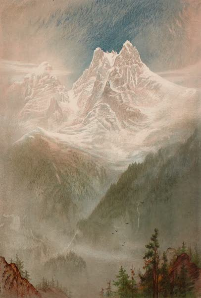The Peaks & Valleys of the Alps - The Dent du Midi from near Champery (1868)