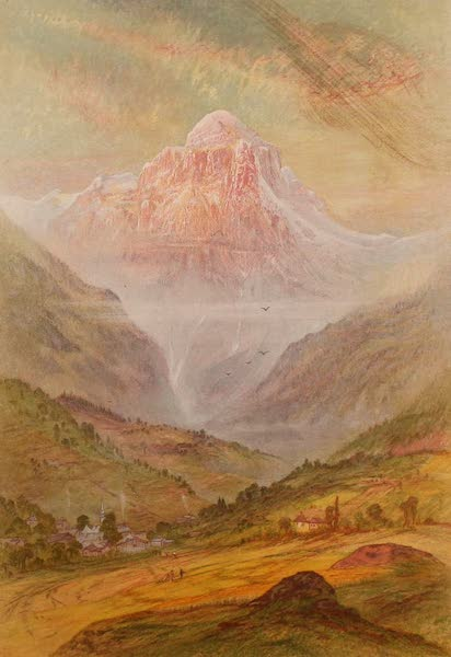 The Peaks & Valleys of the Alps - The Pointe de Tenneverges from near Sixt (1868)