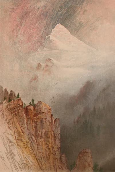 The Peaks & Valleys of the Alps - The Weisshorn from near St. Niklaus (1868)