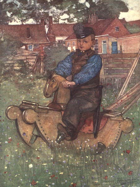 The People of Holland - A Boy of Veere astride a Rocking Horse (1910)