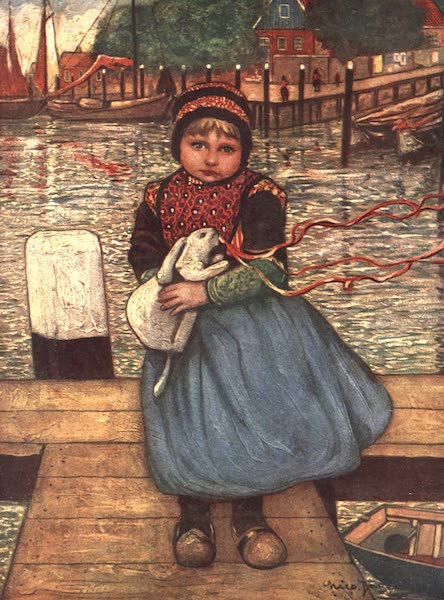 The People of Holland - A Girl with a Rabbit (1910)