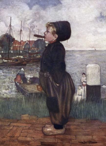 The People of Holland - A Boy Smoking, Volendam (1910)