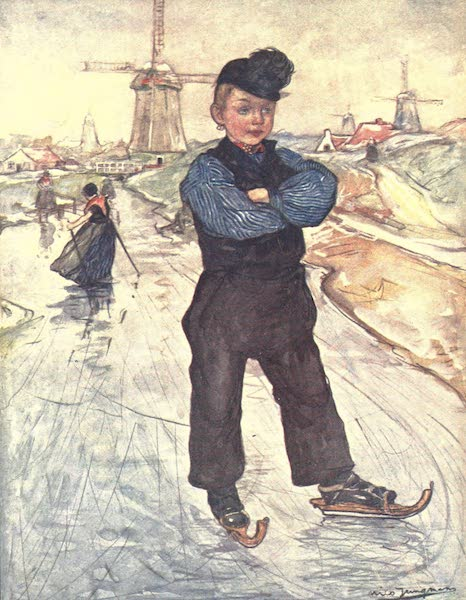 The People of Holland - A Peasant Boy of Veere on Skates (1910)