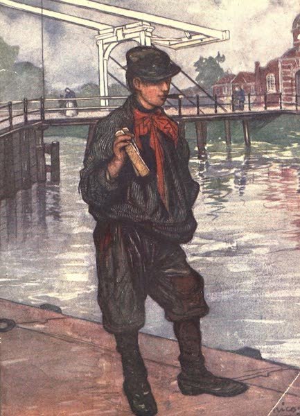 The People of Holland - An Amsterdam Street - Boy with Clappers (1910)