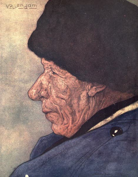 The People of Holland - A Man's Head, Volendam (1910)